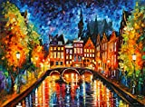 Amsterdam Canal is a Limited Edition print from the Edition of 400. The artwork is a hand-embellished, signed and numbered Giclee on Unstretched Canvas by Leonid Afremov. Embellishment on each of these pieces will be slightly different, but the image...