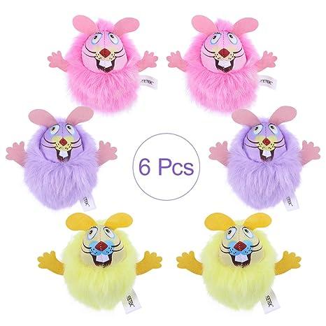 POPETPOP UEETEK 6 Piezas Juguetes Felpa con Hierba para Gatos Ratones Forma Juguetes Interactiva Catnip Crinkle