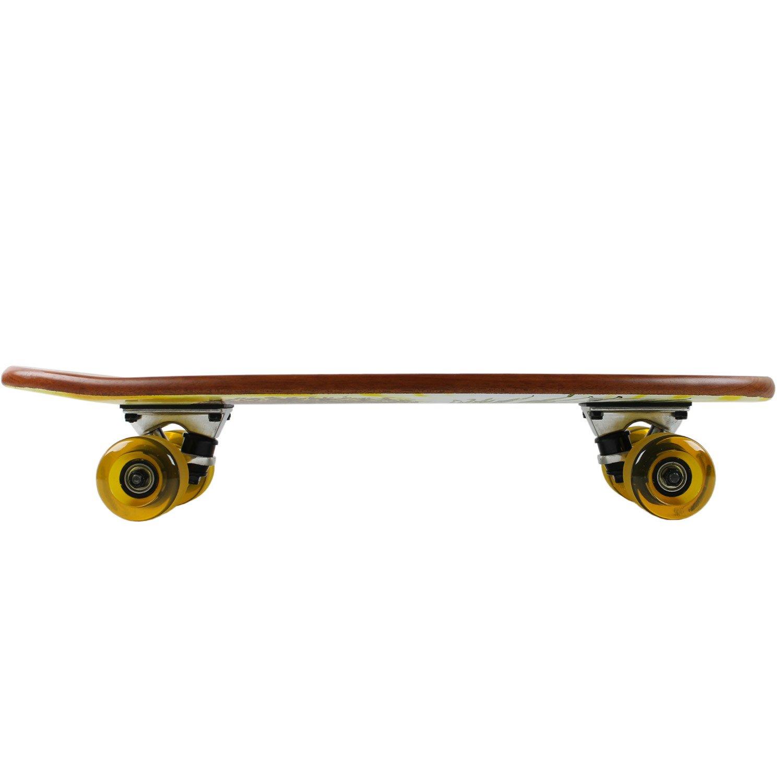 Paradise Micro Cruiser Skateboard Yellow Keystone Skate Supply PACR-12