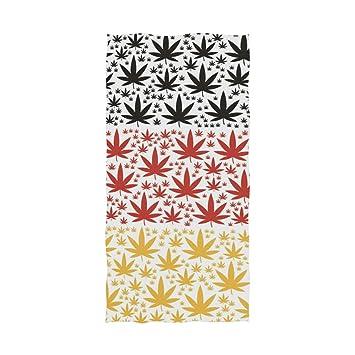Ahomy Toalla de baño con diseño de Hojas de Marihuana y Cannabis, de algodón Suave