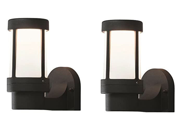 Lampade Da Esterno Moderno Da Parete : Konstsmide set dimmerabile lampada da parete siena in nero vetro