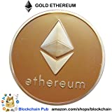 2019 Gold Ethereum - Blockchain Commemorative Cryptocurrency - Bitcoin Ethereum Ripple EOS Stellar Litecoin Cryptocurrencies Blockchain Bitcoin Ethereum Blockchain Litecoin EOS Bitcoin Blockchain