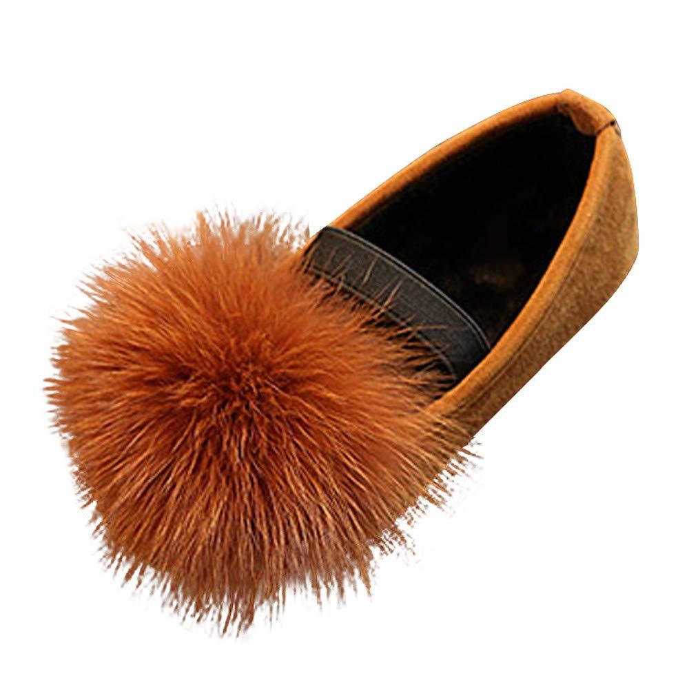 YanHoo Zapatos para niños Zapatos de Princesa de Piel de otoño e Invierno para niños Zapatos Lindos de la Nieve del Terciopelo Antideslizante de Las ...