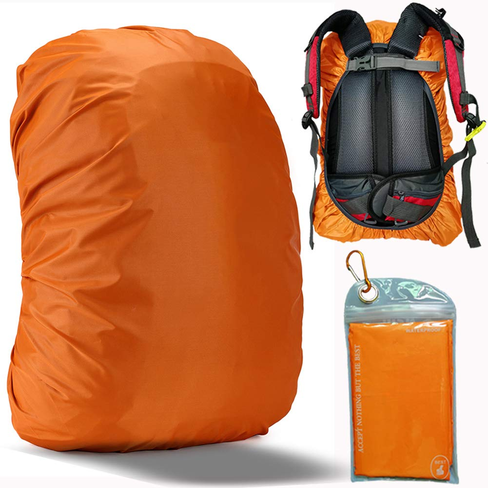 Gryps Waterproof Backpack Rain Cover with Adjustable Anti Slip Buckle Strap & Sliver Coating Reinforced Inner Layer for Camping, Hiking, Traveling, Hunting, Biking and More, 30-40L(Orange) by Gryps