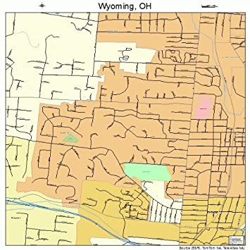 Amazon.com: Large Street & Road Map of Wyoming, Ohio OH - Printed ...