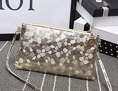 Leather size Retro Bright Gold Vi Package 3cm 21 Mini yo Phone 13 Shoulder Party Handbag Sequins Bag Fashion Women Black Small 4xHx8Xq6