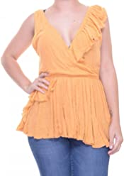 Free People Float Away Ruffle Top