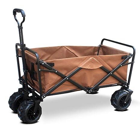 Carro portable del jardín con 4 ruedas, carro plegable plegables, carros de mano deportes