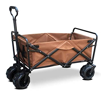Carro portable del jardín con 4 ruedas, carro plegable ...