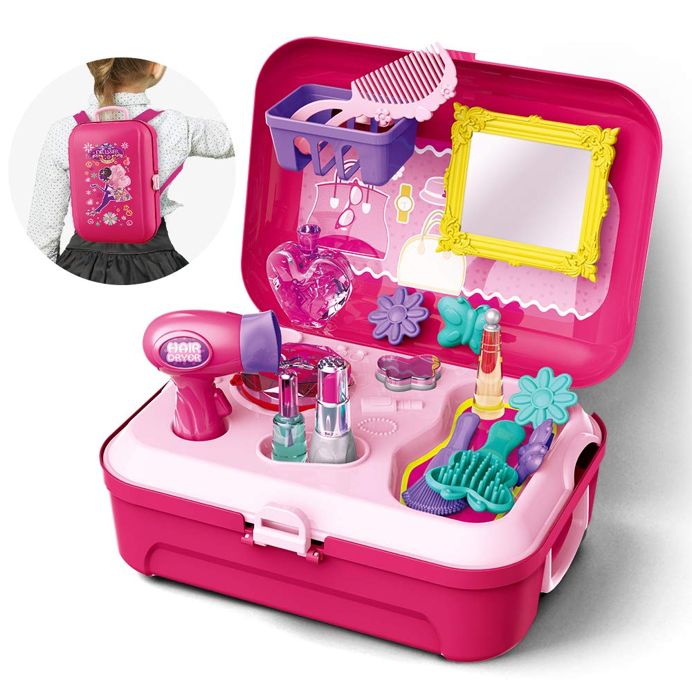 Gizmovine Girls Pretend Play Makeup Set for Children, Kids Make it Up for Little Girls Princess Toys for Toddlers Girl 2 3 4 5 6 Year Old by Gizmovine