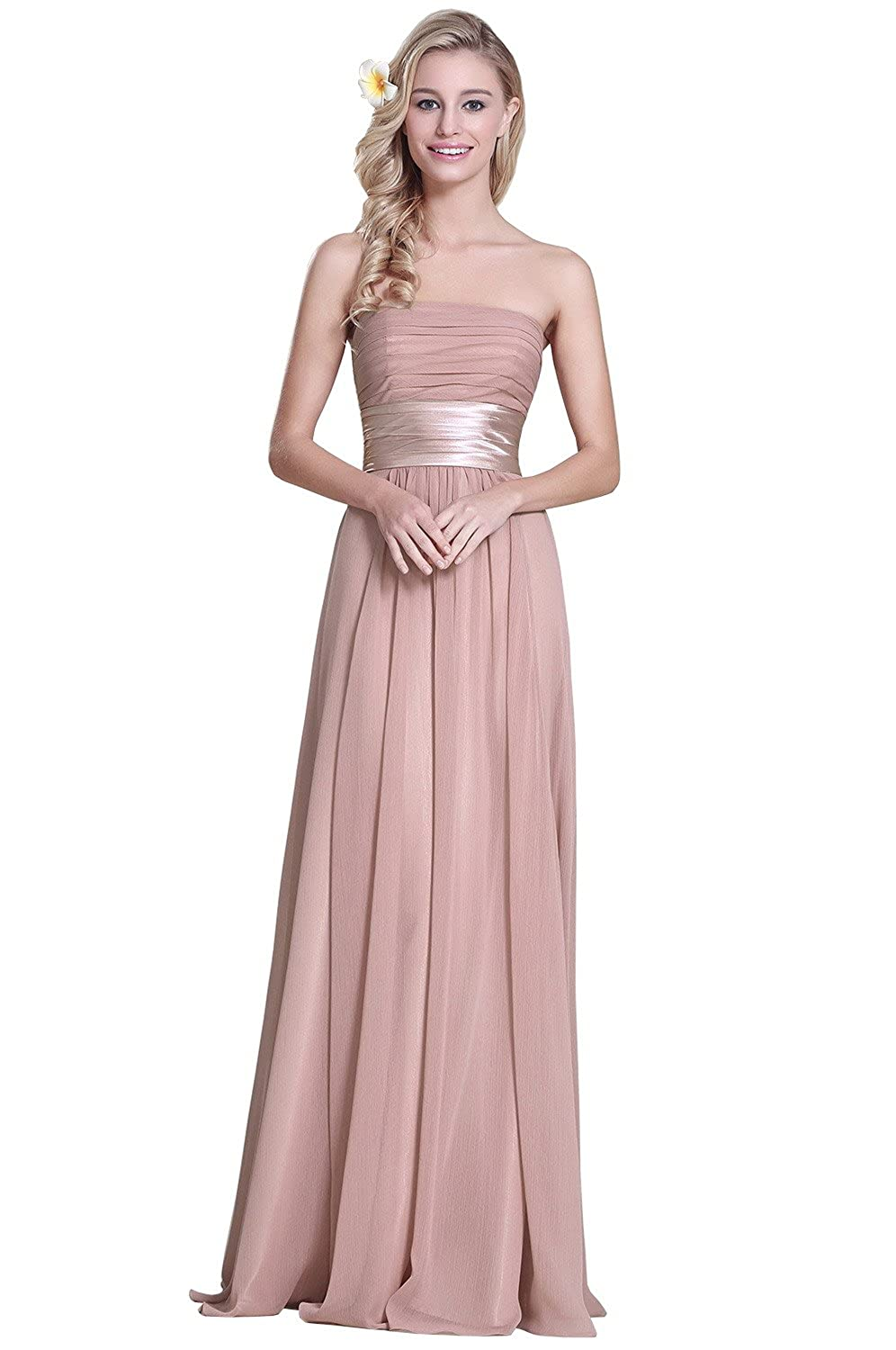 eDressit Strapless Bridesmaid Dress With Pleated Bodice Formal Party Gown (07151446)