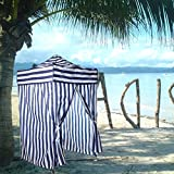 WShop Portable Stripe Tent Changing Room Camping Cabana Outdoor Pop Up Privacy Pool Canopy Blue New