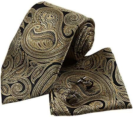 YAC2B07 Gift Giving Presents Idea Multicoloured Pattern Silk Tie 3PT By Y&G