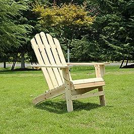 AZBRO Outdoor Wooden Fashion Adirondack Chair/Musk...