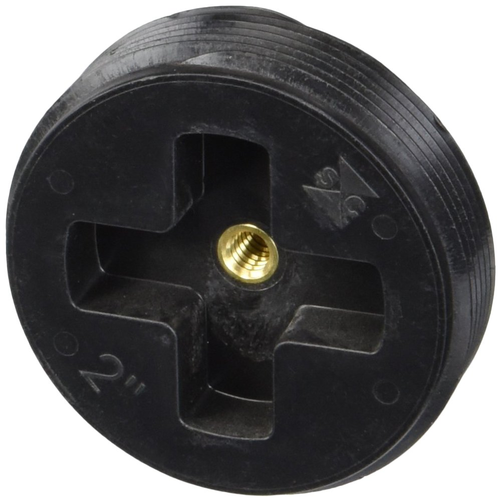 """Sioux Chief 879-20 Cleanout Plug ABS Threaded, 2"""", Black"""