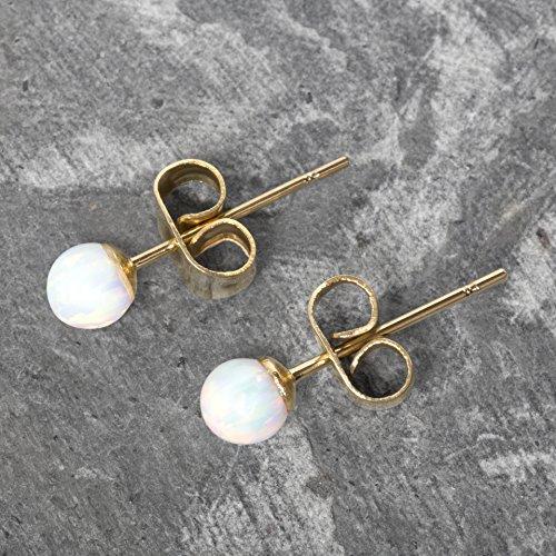 2dc0587ed Opal Earrings - Celebrity Approved Opal Stud Earrings Gold Stud Earrings  Gold Earrings Ball Studs 6mm