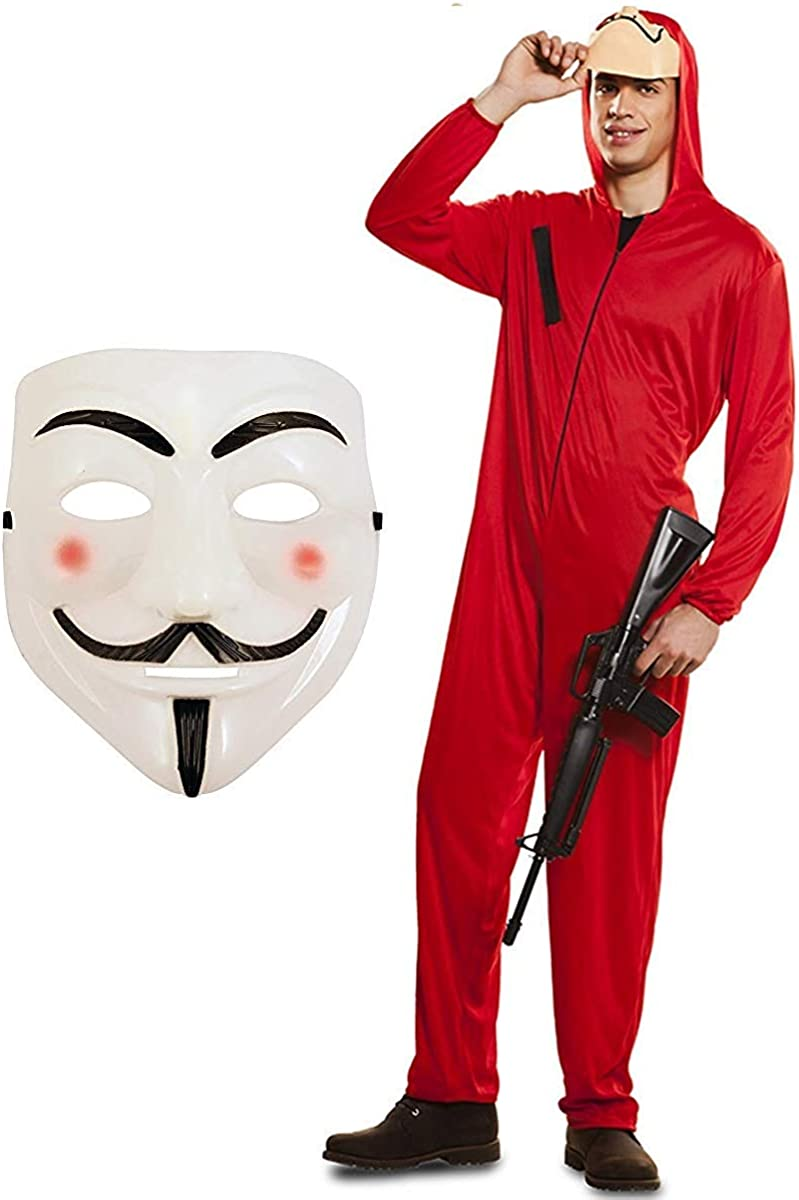 Partilandia Halloween Disfraz Ladron Casa de Papel Adulto (M ...