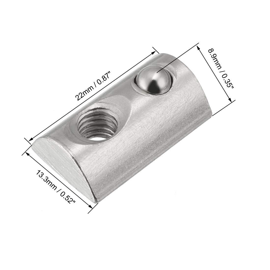 sourcing map M4 Roll Ball /écrous /élastiques s/érie 4040 Profil en aluminium extrud/é 4Pcs