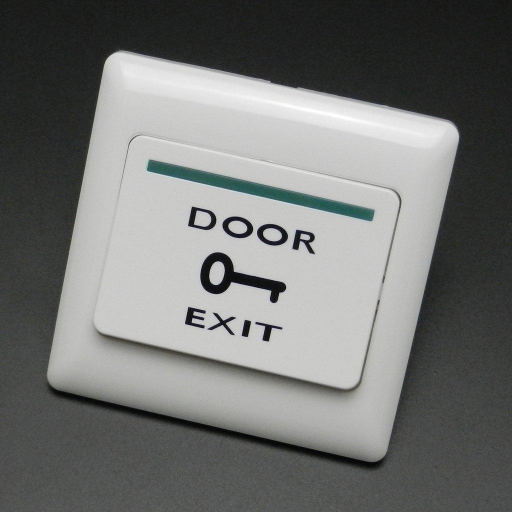 Homyl 2Pcs Door Exit Push Release Button Switch Magnetic Lock Door Access Control