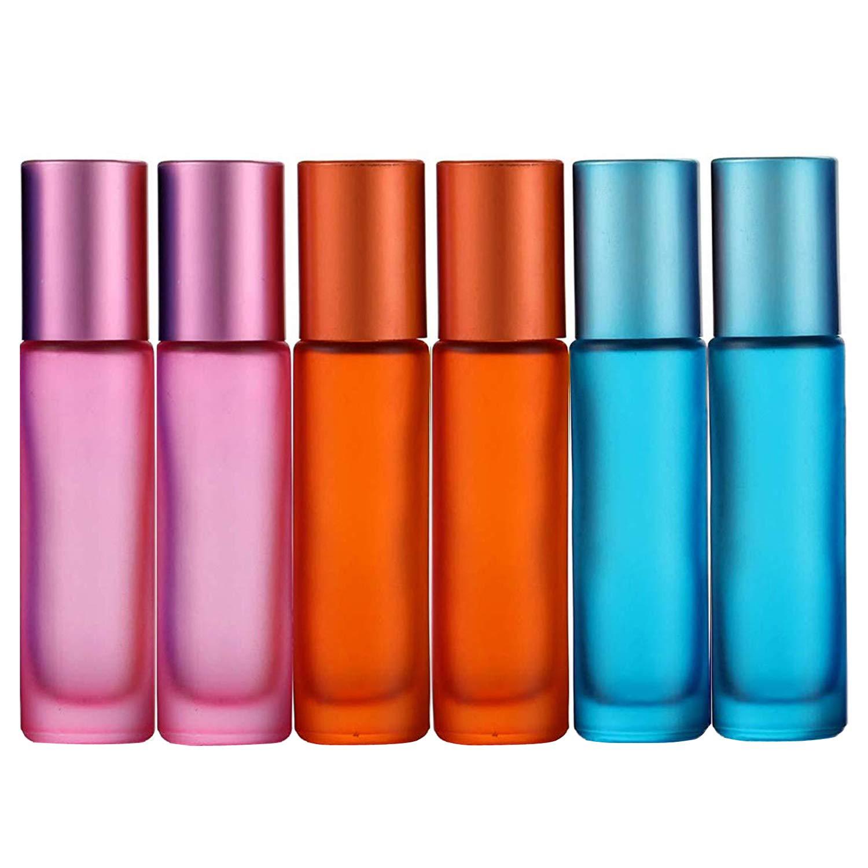 Duft 6 St/ück bunt nachf/üllbar leer JamHooDirect Tintenroller-Flaschen 10 ml Parf/üm mit 1 /Öffner und 1 Tropfer perfekt f/ür Aromatherapie mattiert