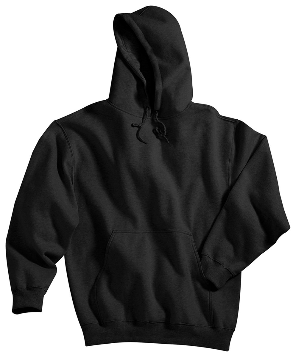 Tri-mountain Cotton/poly sueded finish hooded sweatshirt. 689 - BLACK_5XLT