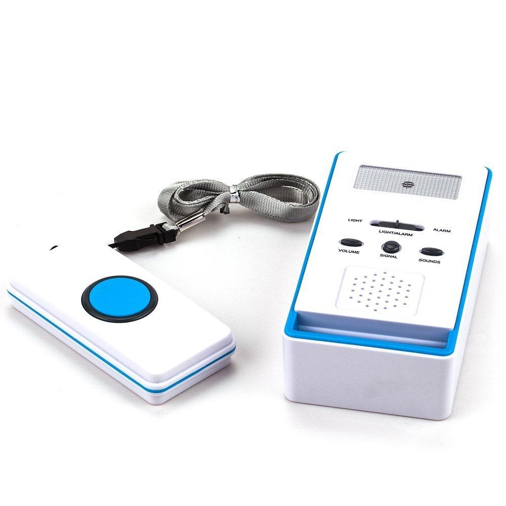 BT-EMALL Alarma inalámbrica familia personal para la gente mayor (Azul)