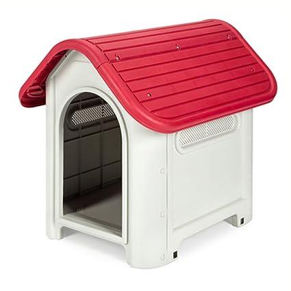 YIXIN Casa de perro / Nido No tóxico y sin sabor PP Material Humanizado Diseño Rojo
