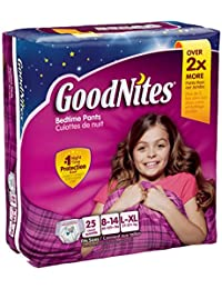 GoodNites Underwear, Girls, L-XL (60-125+ lbs), Jumbo, 12 ct (2 Pack) BOBEBE Online Baby Store From New York to Miami and Los Angeles
