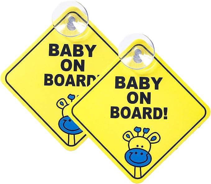 Petit-Enfant à bord Voiture De Sécurité Avertissement Signe