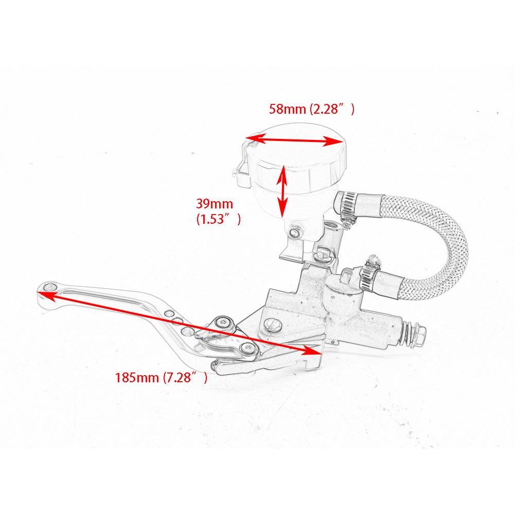 Motorcycle 7 8 Clutch Brake Levers Master Cylinder Oil Hypermotard 796 Engine Diagram Valve Fluid Reservoir For Ducati 10 12 748 750ss 99 02 St4 S Abs 04 06 Gold
