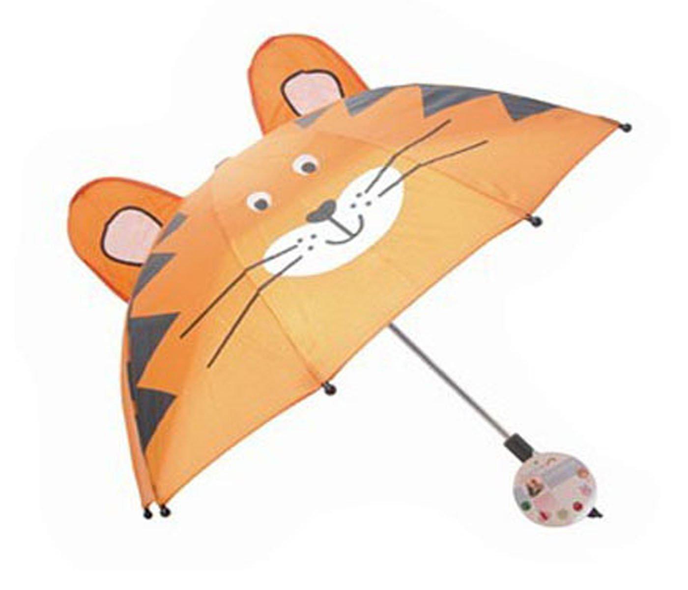 Paraguas plegable compacto para niños, con un lúdico y divertido diseño, para sus primeros pasos, plegable, pequeño, ligero, de bolsillo, de invierno, ...