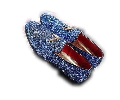 Punk Style - Mocasines para Hombre Azul Azul 40 EU: Amazon.es: Zapatos y complementos