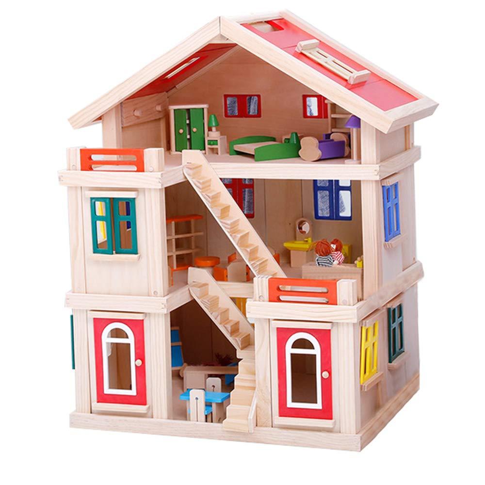 上品な 子供のおもちゃのパズルのビルディングブロック B07L336F34、子供の3層の人形のホリデーハウスクリエイティブビルディングブロックDIYのおもちゃの家の大きなヴィラセット(5歳以上の子供) B07L336F34, 健康イオン:03570ee4 --- a0267596.xsph.ru