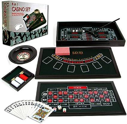 TMG Mini 4 en 1 – Juego de Mesa Juego Casino, Dados, Ruleta & Blackjack.: Amazon.es: Deportes y aire libre