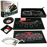 Mini 4 in 1 Casino Table Game Set - Play Poker, Craps, Roulette & Blackjack!