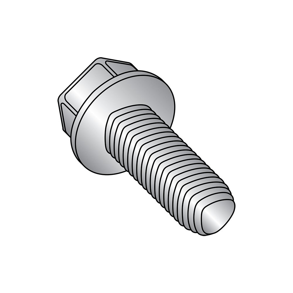 Small Parts 1416RW410 Hex Washer Head 1//4-20 Thread Size 410 Stainless Steel Thread Rolling Screw for Metal Passivated Finish 1//4-20 Thread Size 1 Length 1 Length Pack of 25 Pack of 25
