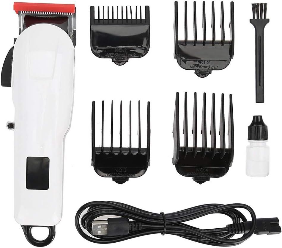 Delaman Cortadora de peluquería eléctrica, cortadora de Cabello inalámbrica USB Trimmer Cortadora de Pelo eléctrica Recargable Cortadora Cortadora