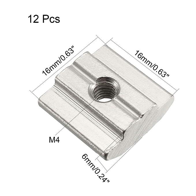 tipo de tuerca 8 Perfil de aluminio 40 x 16 mm longitudes est/ándar