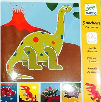 Djeco Dinosaurier Schablonen Mehrfarbig Amazon De Spielzeug