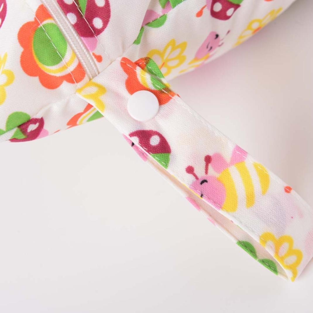 Xshuai/® Newborn Infant Baby Kids Lovely Waterproof Storage Nappy Dry Wet Cloth Bag Travel Organizer Diaper E