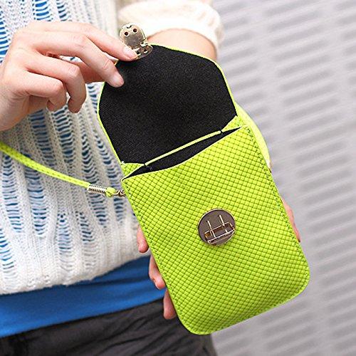 Cotidiano Amarillo para Piel Mini de LAAT Uso Artículos Navidad Bandolera Niñas 1PCS Llevar Verde para Mujer WqH6F4706