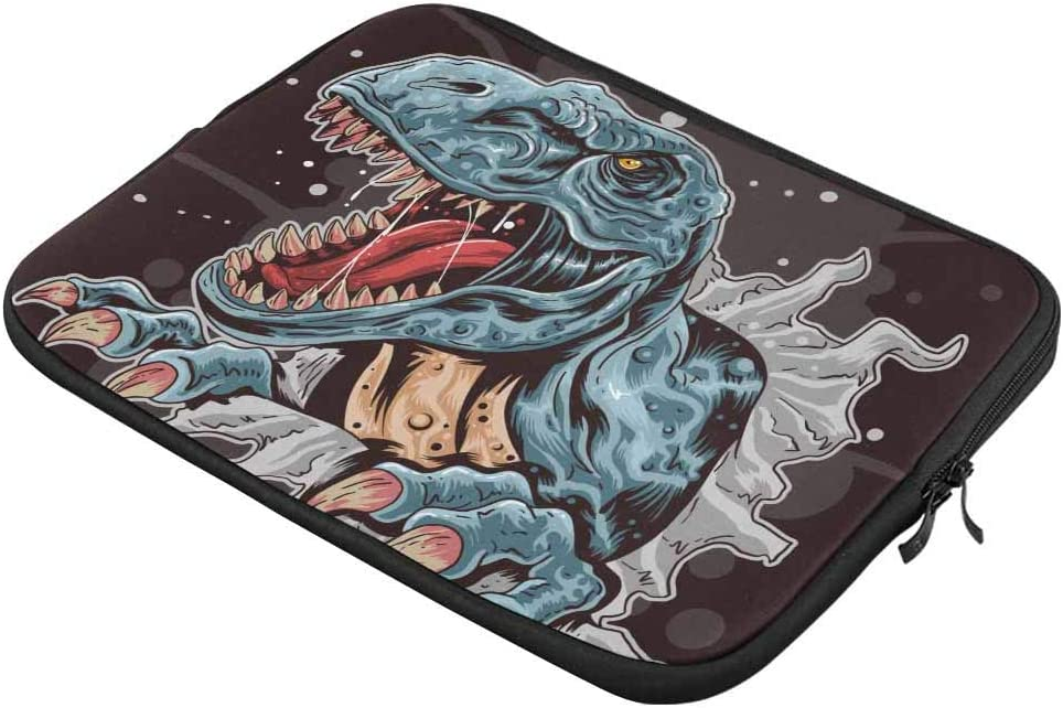 Angry Cartoon Dinosaur Laptop Sleeve Case 14 Inch Briefcase Cover Protective Notebook Laptop Bag