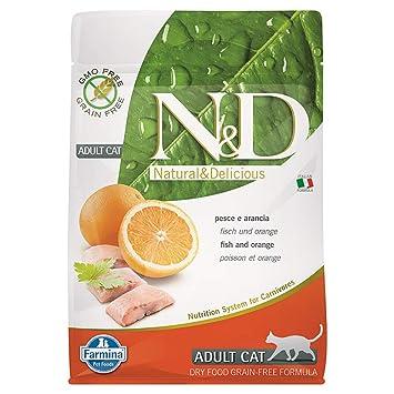 FARMINA N & D gato Grain Free Adult Pescado/naranja Gr.300: Amazon.es: Productos para mascotas