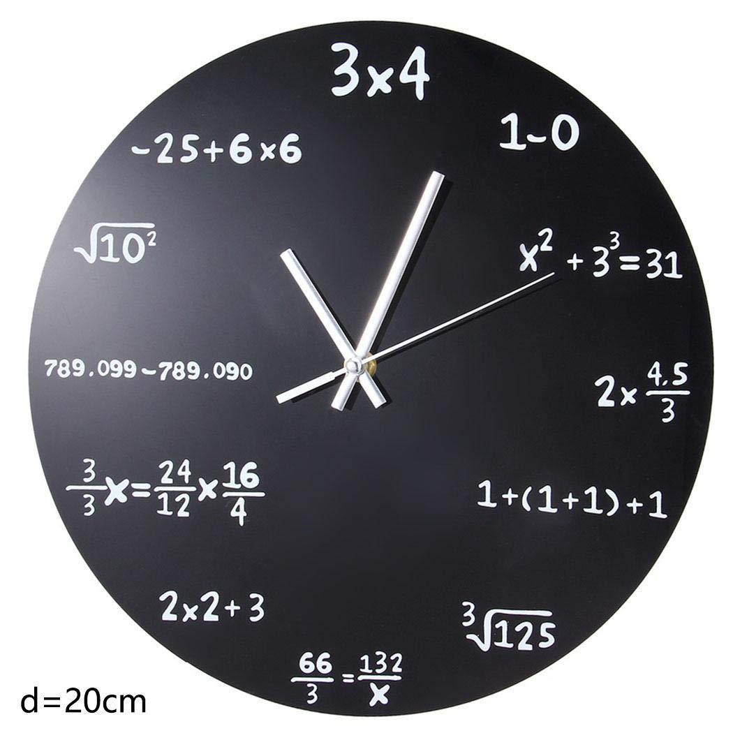 Algern Home Classroom Matematica Lavagna Quiz Orologio Orologio da Parete Regalo Insegnante Casa e Cucina