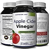 Apple Cider Vinegar Weight Loss Supplement for Men and Women - Pure ACV Diet Pills Fat Burner Appetite Suppressant with Apple Pectin Spirulina Kelp and Vitamin B-6-60 Capsules by Huntington Labs