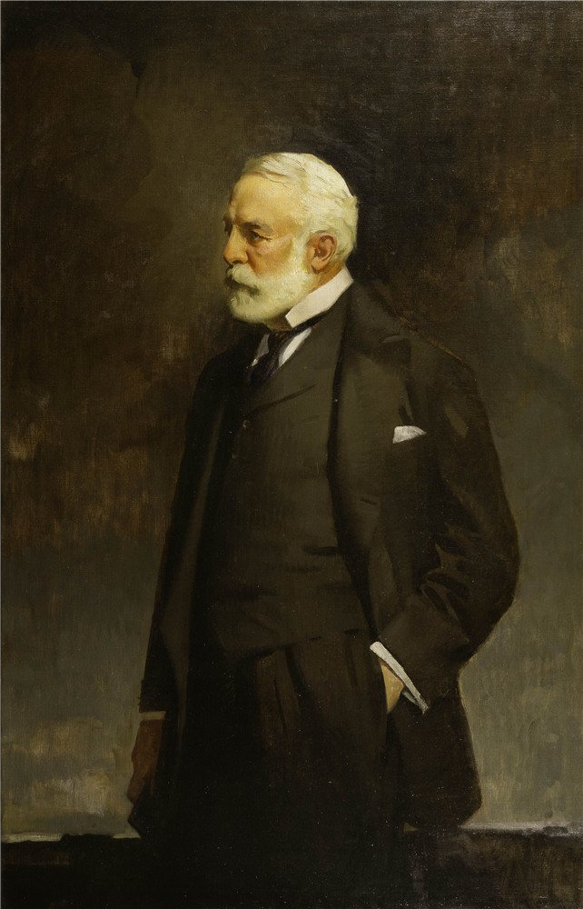 Oil Painting 'John C. Johansen - Henry Clay Frick, 1943', 8 x 12 inch / 20 x 32 cm , on High Definition HD canvas prints is for Gifts And Basement, Dining Room And Foyer Decoration, diy by LuxorPre