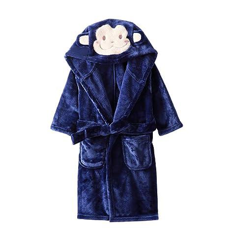 Niños Albornoz Camisón Toalla de Baño Pijamas Baño Cómoda Ropa de Dormir Bata de Baño