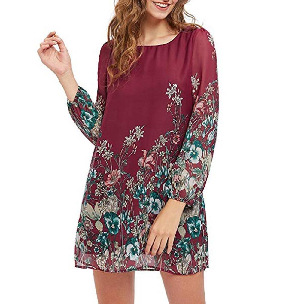 Agrintol_Women Dress DRESS レディース B07G28RQTN レッド Large