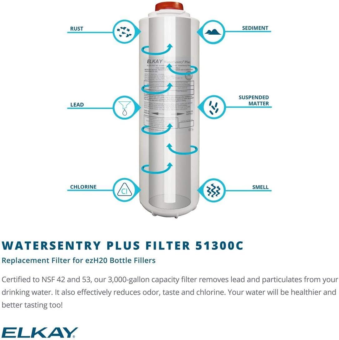 Elkay LZWSRK EZH2O RetroFit Bottle Filling Station Kit, Filtered Non-Refrigerated,Stainless Steel