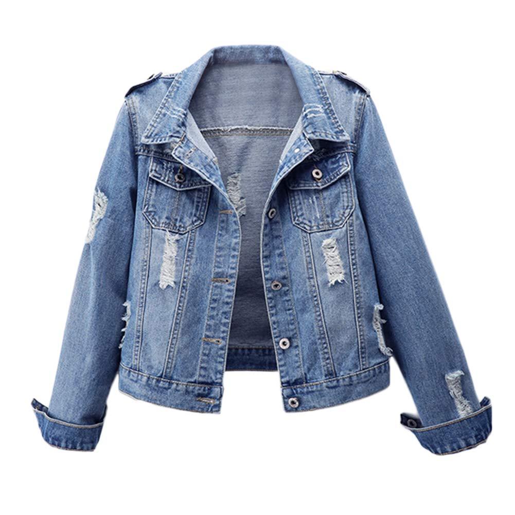 ride3cb04 laozana giacca donna giacca in jeans corta